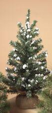 "GERSON 18"" MINIATURE PINE CHRISTMAS TREE w/ROUND PINE BURLAP BASE STYLE 3"