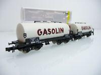 Minitrix N 1:160 15420-05 2-teiliger Kesselwagen mit Brhs Zug GASOLIN mit OVP