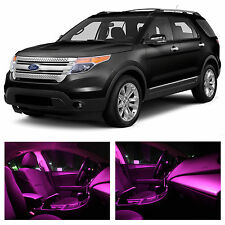 13x Pink Premium LED Lights Interior Package Kit for 2011-2015 Ford Explorer