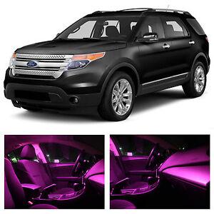 13x Pink Premium LED Lights Interior Package Kit for 2011-2015 Ford Explorer