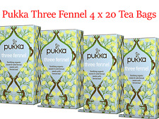 4 x 20 Tea bags PUKKA Three Fennel ( 80 bags in total )