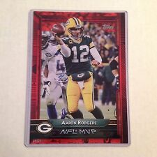 #303 Aaron Rodgers California Packers MVP #ed/25 made Red Version 2015 Topps 5x7