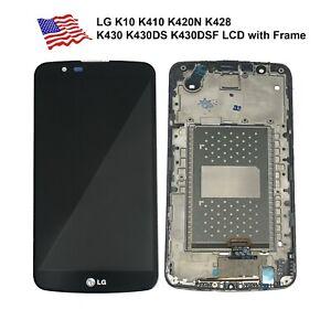 LG K10 K410 K420N K428 K430 K430DS K430DSF LCD Screen Touch Digitizer +Frame