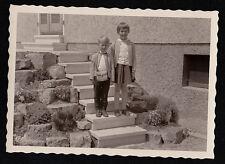 Old Vintage Antique Photograph Adorable Little Boy & Girl on Steps Camera Case
