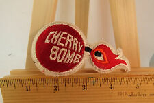 Vintage Cherry Bomb Muffler Iron-on Embroidered Patch 1980s NOS New