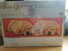 *LOOK* NEW & Sealed Clementoni 500 piece  Labrador puppies and cat Jigsaw Puzzle