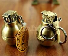 2PCS Refillable Butane Gas Cigar Lighter Grenade Bronze Feuerzeuge Windproof Lot