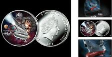 New Space Battleship Yamato Official Legal Color Silver Coin with 3D Display