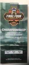 North Carolina 2017 NCAA Basketball Championship Ticket UNC Tar Heels Excellent