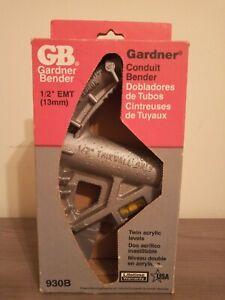 "@@@NEW IN BOX GB GARDNER 930B ALUMINUM 1/2"" EMT CONDUIT BENDER TOOL BRAND NEW@@@"