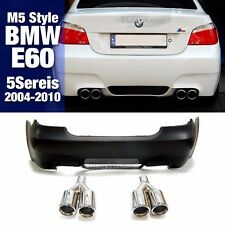 M5 Style Rear Bumper W/O PDC Tips Body Parts For BMW 2004-10 5 Series E60 Sedan