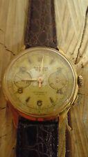 Montre chronographe suisse ancienne mécanique homme ORATOR pl OR LANDERON 48