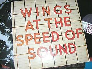 WINGS -  ..... At The Speed Of Sound,    ORIG 1976 UK LP / inner.... NICE COPY