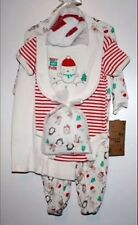 Best Gift Ever Christmas Baby 6 Piece Set 6-9 Months White Red Chick Pea Outfit