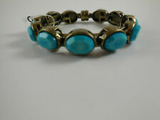 Chico's Bronze Turqouise Faceted Stone Magnetic Closure Bracelet B102
