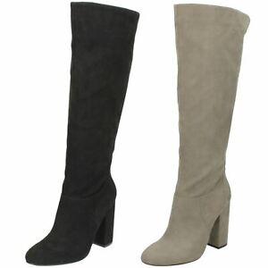 Ladies Anne Michelle Chunky Block Heel Knee High 'Boots'