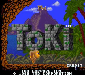Original Arcade PCB Jamma TAD TOKI ORIGINAL