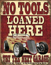 NO TOOLS LOANED HERE Vintage Style Metal Signs Man Cave Garage Decor 69
