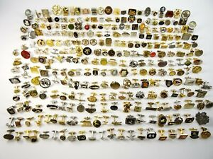 Huge Lot of 300 SINGLE Cufflinks Many Novelty Great Variety Mix N Match