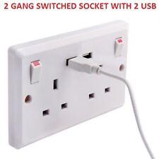 Enchufe de pared doble con dos puertos USB Cargador rápido placa de conmutación de Enchufe 2 Gang