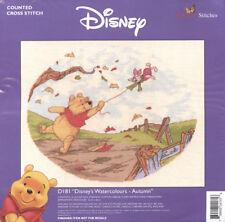 Winnie the Pooh - Autumn Watercolour Cross Stitch Kit *NEW*