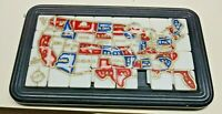 COLLECTIBLE VINTAGE TRAY SLIDE PUZZLE OF THE UNITED STATES