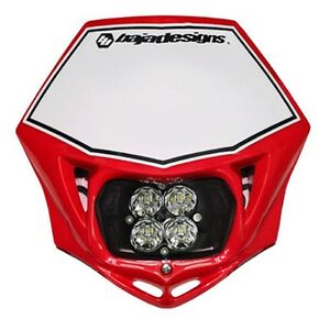 Baja Designs Squadron Sport Motorcycle LED Race Headlight Red Shell