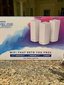 Linksys Velop Whole Home WiFi 3 Node Ac6600 White WHW0303