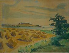 Costa del Mar Báltico con kornhocken 1930 Bendix firmado-Koster Tang-Dinamarca