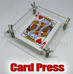 PLAYING CARD PRESS CLAMP DECK PROTECTOR PACK DISPLAY STAND FLATTEN TAROT & GAME