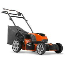 Husqvarna 967682501 LE 121P 40V Ergonomic Walk Behind Lawn Mower w/ 2 Batteries