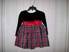 NEW! YOUNGLAND GIRLS CHRISTMAS PLAID DRESS SIZE 24 MONTHS RETAIL $54