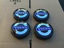 NEW VOLVO SET OF 4 BLACK & BLUE CENTER WHEEL COVER HUB CAPS EMBLEM RIM 3546923