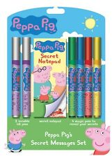 Peppa Pig Secret Messages Set Colouring Children Fun Stationery