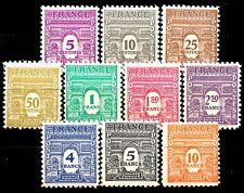 Série ARC de TRIOMPHE 1ere Série YT n° 620 à 629 neufs ★★  luxe 1944
