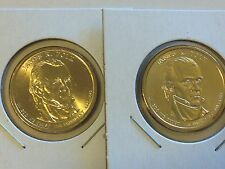 2 Coin Set Both 2009 D James Polk Presidential Golden Dollar BU Gold $1