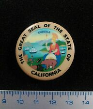 Great Seal Of CALIFORNIA  Pin Badge Exclusive Design.Limited Series.Litho. Metal