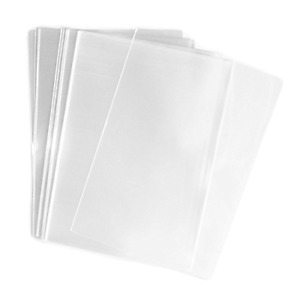 Approx. 100 Pcs 11X14 Inch Clear Flat Cello Cellophane Bags Opp Bag for Bakery
