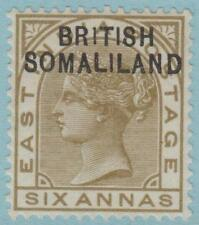 BRITISH SOMALILAND SG 7a ERROR 1 FOR BRITISH MINT HINGED OG * NO FAULTS AMAZING!