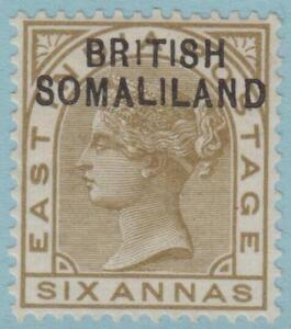 BRITISH SOMALILAND SG 7a ERROR 1 FOR BRITISH MINT HINGED OG * NO FAULTS AMAZING!