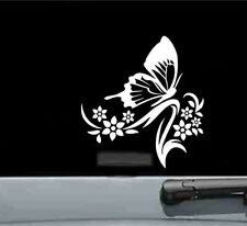 tribal butterfly with flowers vinyl decal sticker bumper car truck nature insect