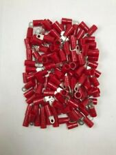 (100) Thomas & Betts Vinyl Insulated 8 Gauge #8 Ring Terminal Wire Connector