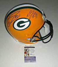 PACKERS Davante Adams Ha Ha Clinton-Dix signed full size helmet JSA COA 14 Draft