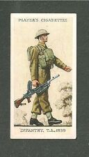 INFANTRY UNIFORM of The Territorial Army 1939 original print card