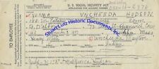 Early Social Security application 1937 for Indian woman from Connecticut