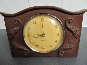 Westclox 60's/70's Mantel Clock Unusual Shape 20cms wide