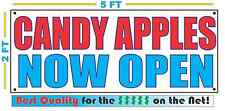 Candy Apples Now Open Banner Sign New Larger Size Best Quality for the $