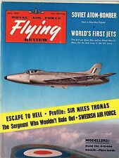 RAF FLYING REVIEW JULY 54 FACSIMILE: BOACs THOMAS/MODEL PLANS 'ROGUE'/ PINUP