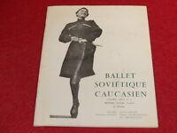 [BALLET DANSE] BALLET SOVIETIQUE CAUCASIEN 1958 Photographies Programme Alhambra