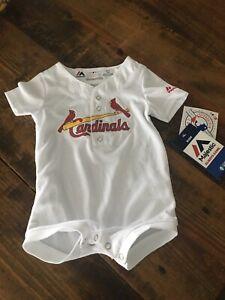 Saint Louis cardinals  MLB  Majestic Infant Baby Romper Size 3-6 M